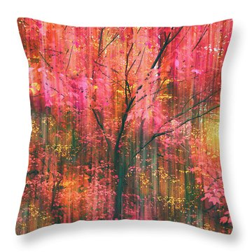 Throw Pillow featuring the photograph Falling Into Autumn by Jessica Jenney