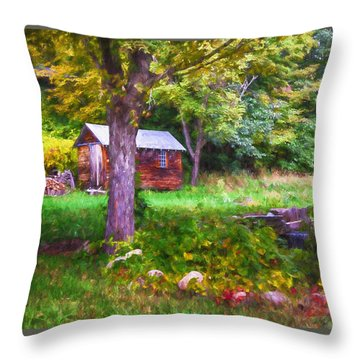 Falling Into Autumn Throw Pillow by Tricia Marchlik