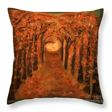 Falling Leaves  Throw Pillow by Mindy Bench