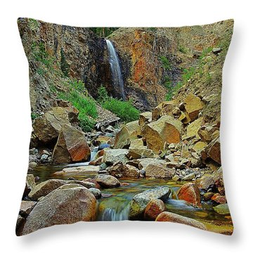 Falling Throw Pillow by Matt Helm