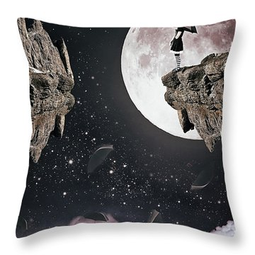 Falling Throw Pillow by Mihaela Pater