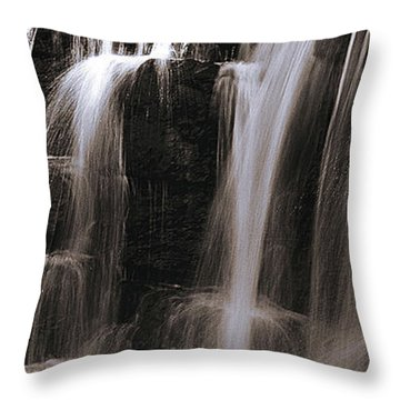 Falling Of Water Throw Pillow by Thomas Bomstad