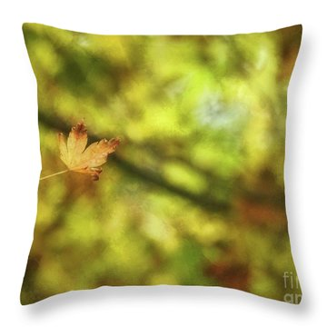 Throw Pillow featuring the photograph Falling by Peggy Hughes
