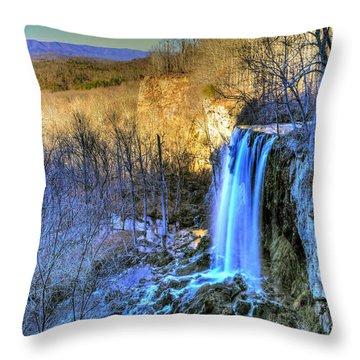 Falling Spring Falls Throw Pillow