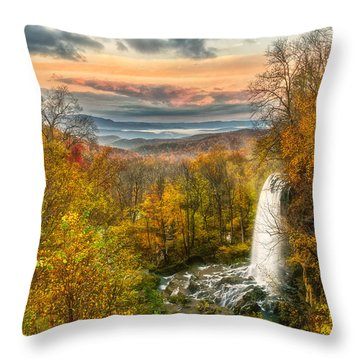 Falling Spring Falls Throw Pillow