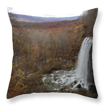 Falling Spring Falls, Va Throw Pillow