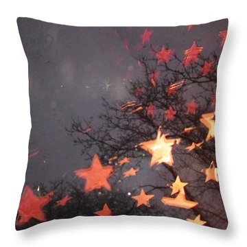 Falling Stars And I Wish.... Throw Pillow