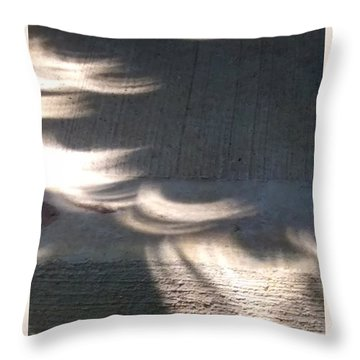 Falling Sunlight Throw Pillow