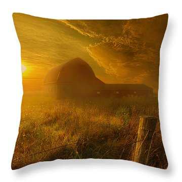 Falling Through Time Throw Pillow