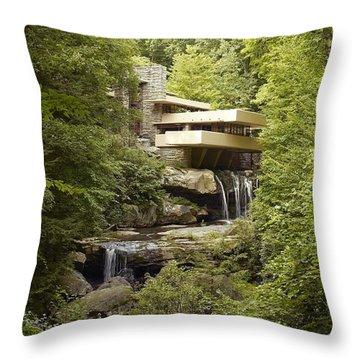 Falling Water Throw Pillow by Carol Highsmith