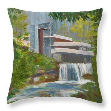 Falling Water Throw Pillow by Jamie Frier
