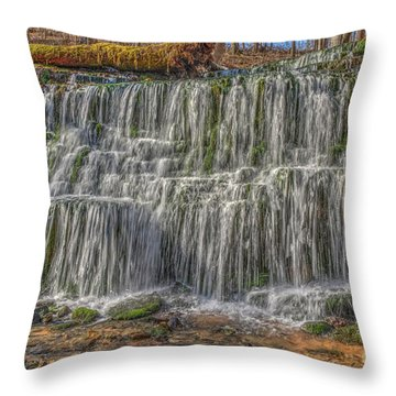 Throw Pillow featuring the photograph Falling Water by Wanda Krack