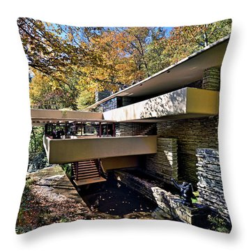 Fallingwater Pennsylvania - Frank Lloyd Wright Throw Pillow