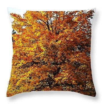Fallish Yellowish Throw Pillow