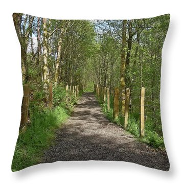 Falloch Path Throw Pillow