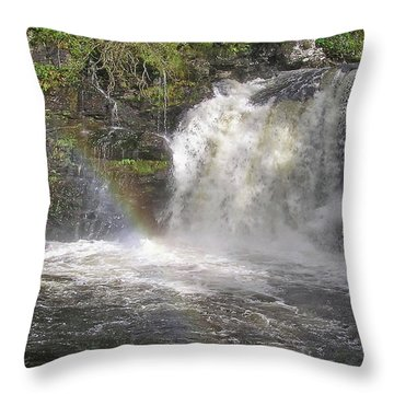 Falloch Rainbow Throw Pillow