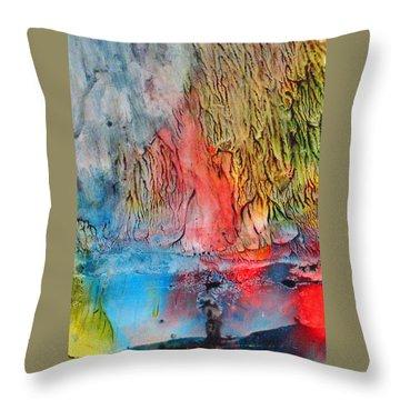 Fallout Throw Pillow by Janice Nabors Raiteri