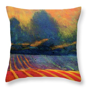 Throw Pillow featuring the painting Fallow Field 2 by Jeanette Jarmon