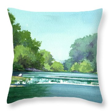 Falls At Estabrook Park Throw Pillow