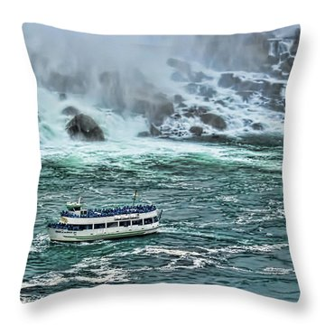 Falls Boat Throw Pillow