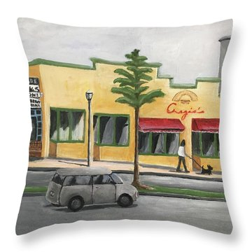 Throw Pillow featuring the painting Falls Church by Victoria Lakes