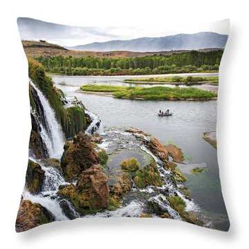 Falls Creak Falls And Snake River Throw Pillow