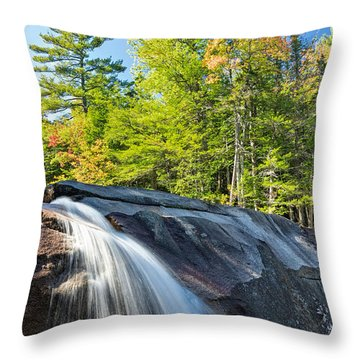 Throw Pillow featuring the photograph Falls Diana's Baths Nh by Michael Hubley