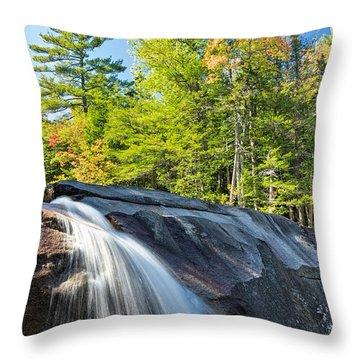 Falls Diana's Baths Nh Throw Pillow