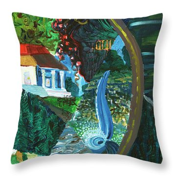 Falls, Fingers And Gorges Throw Pillow