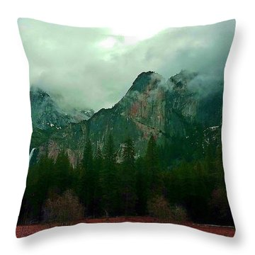 Throw Pillow featuring the photograph Falls In Yosemite D by Phyllis Spoor
