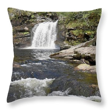 Falls Of Falloch Throw Pillow