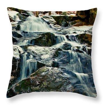 Falls Of Fogg Brook Throw Pillow