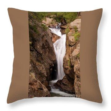 Falls On Falling River Throw Pillow