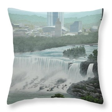 Falls View Throw Pillow by Kenneth M  Kirsch