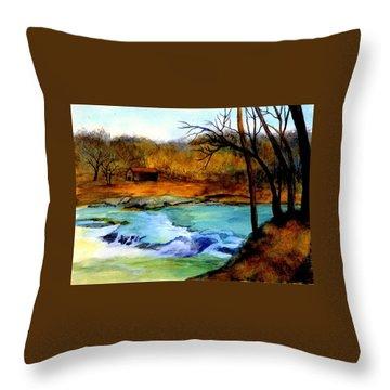 Fallsburg Ky Falls Throw Pillow by Gail Kirtz