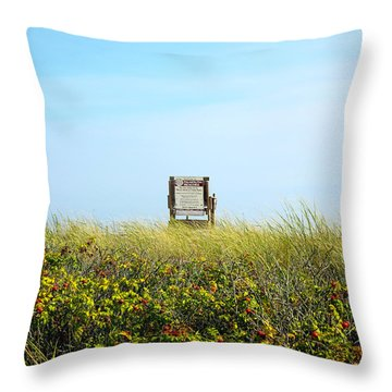 Throw Pillow featuring the photograph Falmouth Beach Open 9-5 by Madeline Ellis