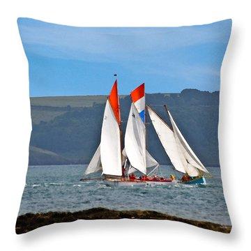 Falmouth Reggatta  Throw Pillow