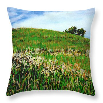False Gromwell Slope Throw Pillow