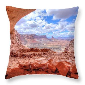 False Kiva Throw Pillow