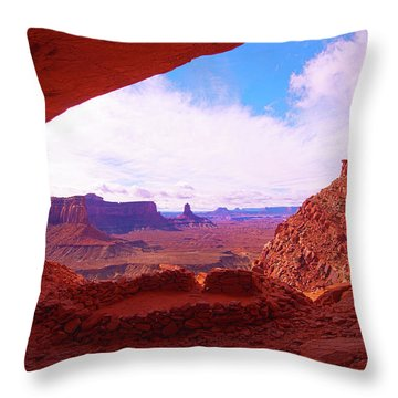 False Kiva Throw Pillow