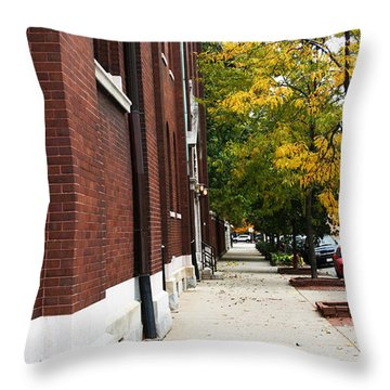 Familair Streets To An Old Women Throw Pillow by Jamie Lynn