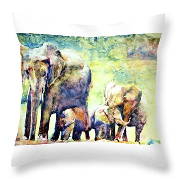 Familial Bonds Throw Pillow