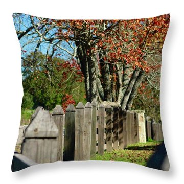 Familiar Fall Throw Pillow