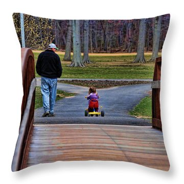 Family - A Father's Love Throw Pillow by Paul Ward