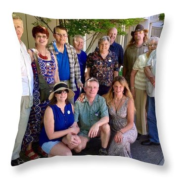 Family And Friends Reunion Throw Pillow