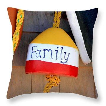 Family Buoy Throw Pillow
