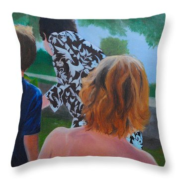 Family Day Throw Pillow
