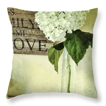 Family, Home, Love Throw Pillow