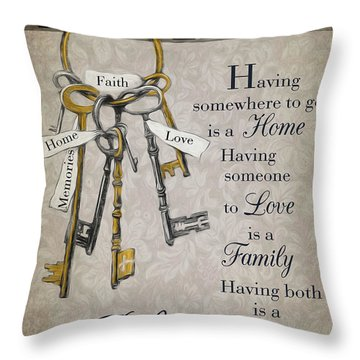 Throw Pillow featuring the photograph Family Is A Blessing by Robin-Lee Vieira