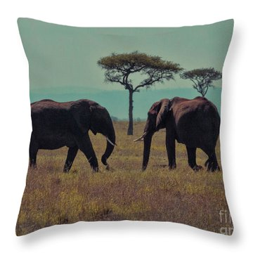 Family Throw Pillow by Karen Lewis